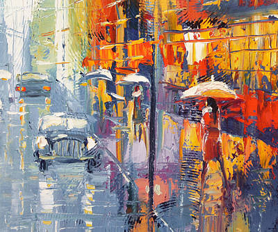 Crosswalk Painting - Evening Scetch by Dmitry Spiros