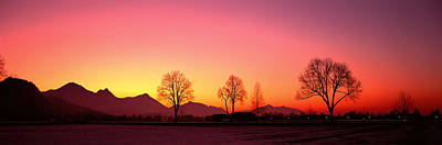 Colorful Buildings Photograph - Evening, Schwangau, Germany by Panoramic Images