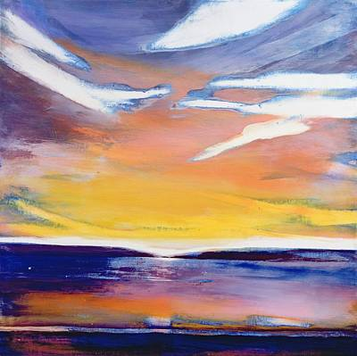 Bonding Painting - Evening Seascape by Lou Gibbs