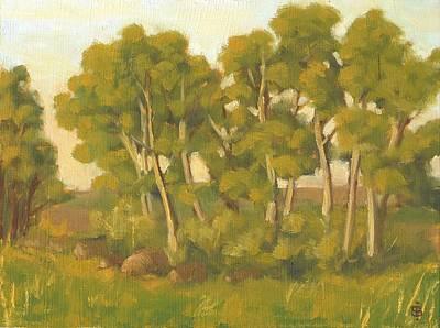 Haybale Painting - Evening Sets by Bibi Snelderwaard Brion