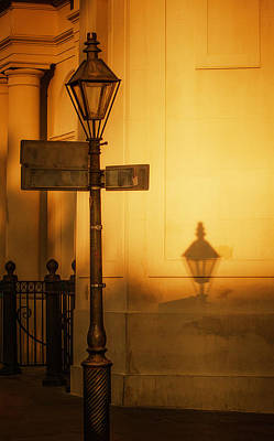 Gas Lamp Quarter Photograph - Evening Shadow In Jackson Square by Brenda Bryant