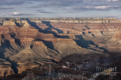 Photograph - Evening Shadows In The Grand Canyon by Sandra Bronstein
