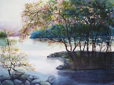 Evening Shadows Art Print by Judy Meng