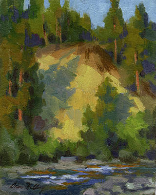 Painting - Evening Shadows Teanaway River by Diane McClary