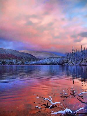 Tom Schmidt Painting - Evening Skies by Tom Schmidt