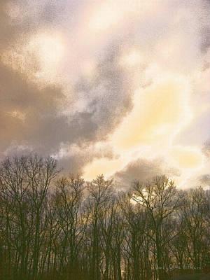 Digital Art - Evening Sky by Nancy Olivia Hoffmann