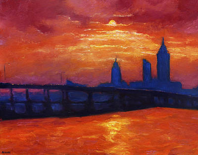 Evening Skyline Mobile Art Print by Vernon Reinike
