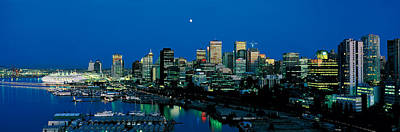 Evening Skyline Vancouver British Art Print by Panoramic Images