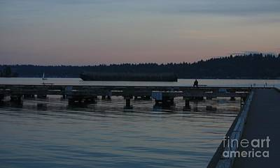 Photograph - Evening Solitude - Lake Washington by Amanda Holmes Tzafrir