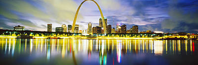 Mississippi River Photograph - Evening, St Louis, Missouri, Usa by Panoramic Images