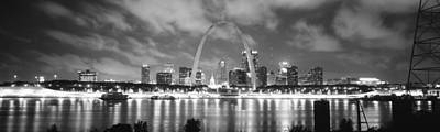 Mississippi River Photograph - Evening St Louis Mo by Panoramic Images