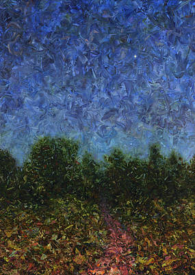 Abstract Landscape Painting - Evening Star by James W Johnson