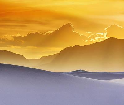 Evening Stillness - White Sands Sunset - Duvet Print by Nikolyn McDonald