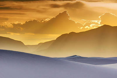 Evening Stillness - White Sands Sunset Print by Nikolyn McDonald