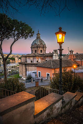Ancient Roman Photograph - Evening Stroll In Rome by W Chris Fooshee