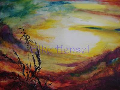 Prairie Sunset Painting - Evening Sun by Elke Hensel