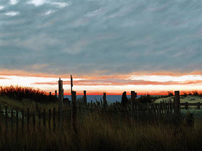 Cape Cod Painting - Evening Sunset In Yarmouth Cape Cod by Douglas Auld