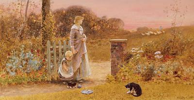 Mums Painting - Evening by Thomas James Lloyd