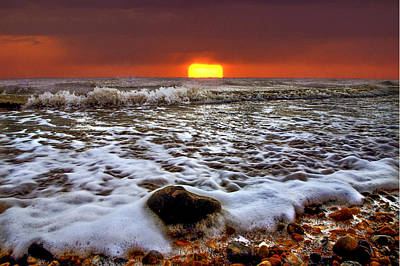 Silver Turquoise Photograph - Evening Tides by Adrian Campfield
