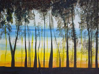 Evening Trees Art Print