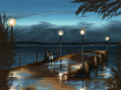 Digital Painting - Evening by Veronica Minozzi