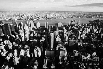 Evening View Of Manhattan East Towards East River And Queens New York City Cityscape Usa Art Print by Joe Fox