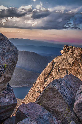 Photograph - Evening Vista From Mount Evans by James Woody