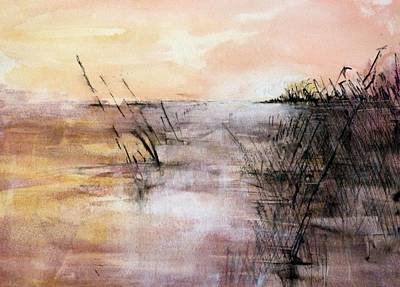 Painting - Eveningglow by Christa Friedl