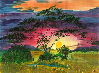 Evenings Bliss Art Print by Beverly Marshall