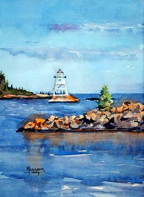 Evenings Glow At The Harbor Original by Spencer Meagher