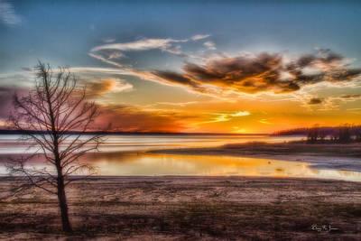 Photograph - Sunset - Scenic - Landscape - Evening's Glow by Barry Jones