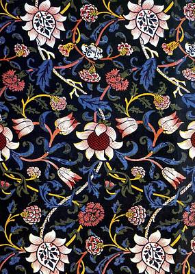 Digital Art - Evenlode In Blue Design by William Morris