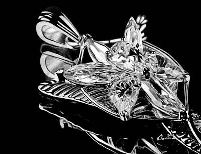 Black Ring Drawing - Evenstar 2012 by Kayleigh Semeniuk
