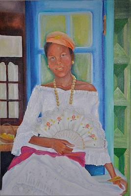 Antilles Painting - Gladys Beaute Creole by KCatia Creole Art