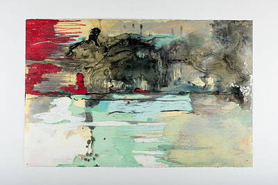 Mixed Media - The Storm Behind The Calm by Marie Tosto