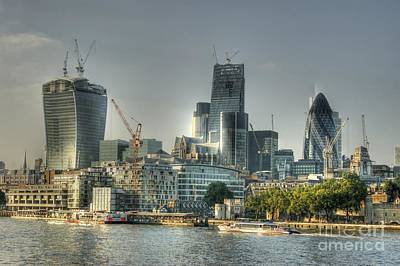 Photograph - Ever Growing City Of London by David Birchall