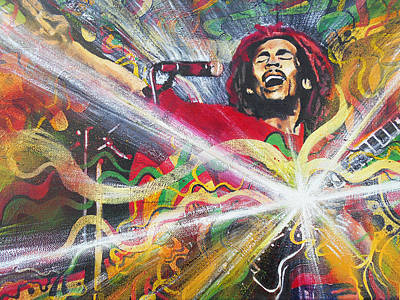 Rastafarian Painting - Ever Living 2 by Kevin J Cooper Artwork