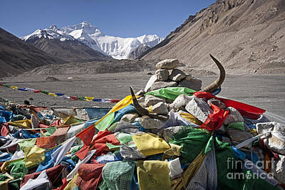 Only Photograph - Everest And Prayer Flags by Hitendra SINKAR