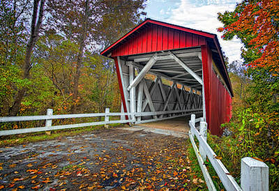 Amish Photograph - Everett Rd. Bridge by Marcia Colelli