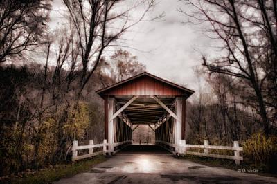 Everett Rd. Covered Bridge Photograph - Everett Rd Bridge by Michael Rankin