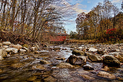 Music Royalty-Free and Rights-Managed Images - Everett Rd Covered Bridge by Jack R Perry