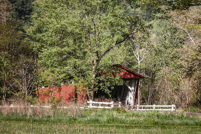Photograph - Everett Road Covered Bridge by Dale Kincaid