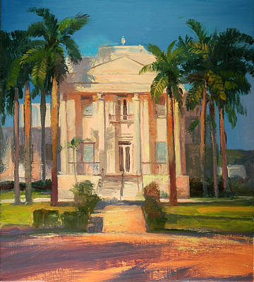 Painting - Everglades City Courthouse by Keith Gunderson