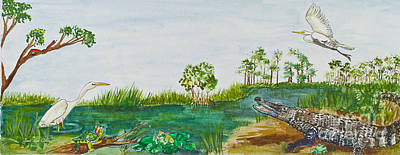 Everglades Critters Art Print