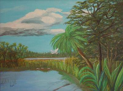 Painting - Everglades Marsh by Patti Lauer