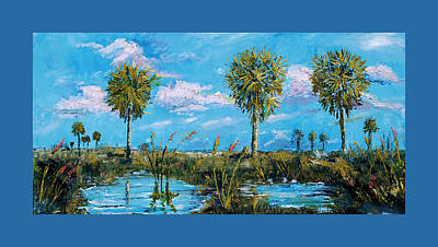 Everglades Sage Palms Art Print