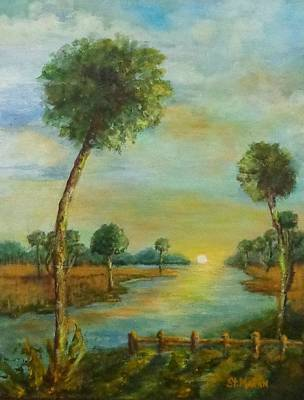 Painting - Everglades Sunrise by Annie St Martin