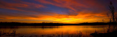 Everglades Sunset Panorama Art Print