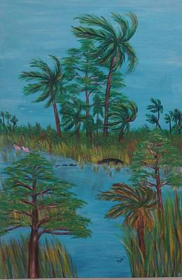 Painting - Everglades Water Hole by Patti Lauer