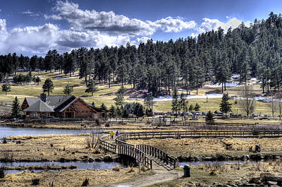 Photograph - Evergreen Colorado Lakehouse by Ron White